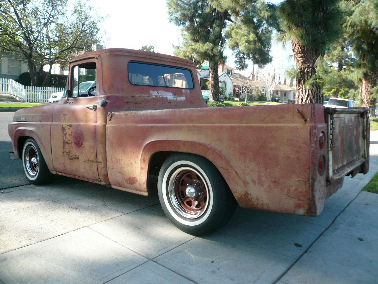 1957 Ford F 100 Short Bed 223 Inline 6 3 Speed Manual Shop Rat Rod 1955 F100 Sun Visor Head Turner Classic For Sale