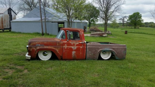 1957 ford f100   cummins turbo diesel   rat rod  street