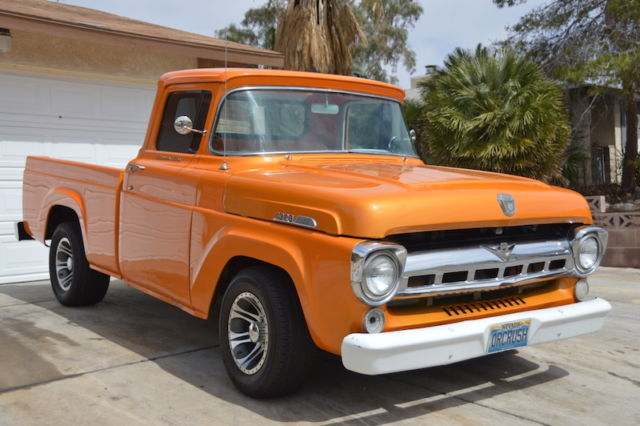 1957 ford f100 styleside short bed 351w c6 trans 9 rear end tags f150 302 classic ford. Black Bedroom Furniture Sets. Home Design Ideas