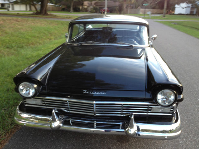 1957 Ford Fairlane 500 Black On Black 2 Dr Hardtop 292 V8
