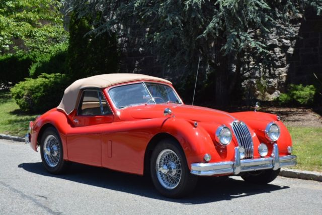 1957 jaguar xk140 0 red classic jaguar xk140 1957 for sale
