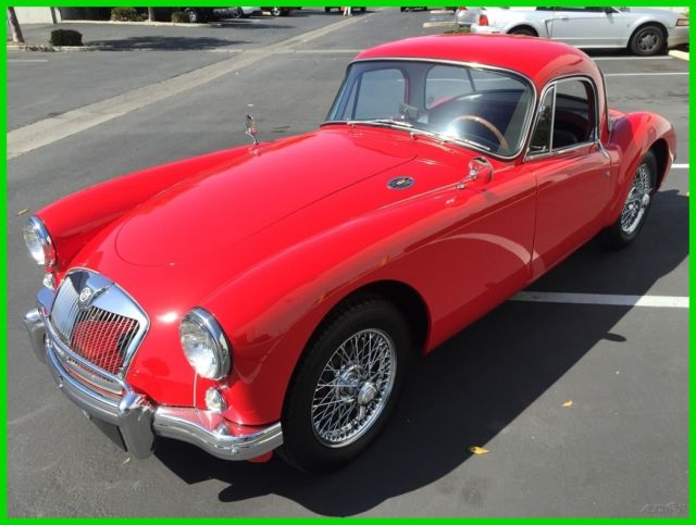 1957 MGA 1500 COUPE. CHARIOT RED / BLACK TRIM. 4-SPEED ...