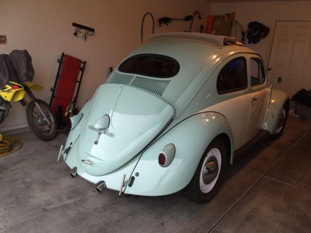 1957 Vw Beetle  Bug Ragtop  Oval Window