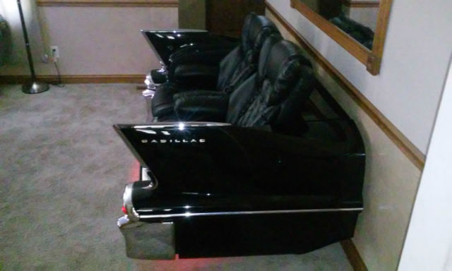 1958 Cadillac Reclining Car Couch For Man Cave Car Sofa