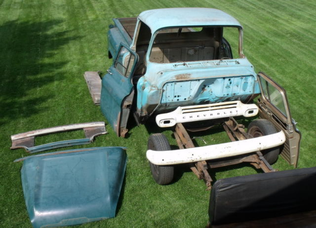 1958 Chevrolet Apache Pickup Restoration Started Needs
