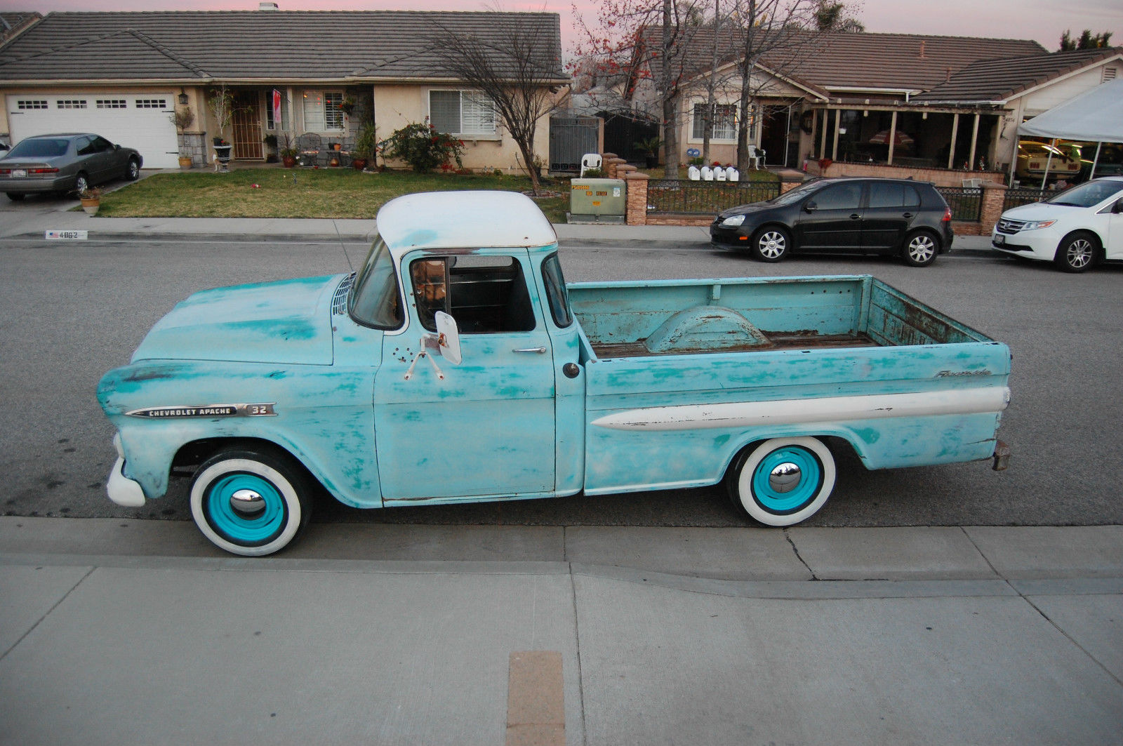 1958 chevy apache big window fleetside pickup classic chevrolet other pickups 1958 for sale. Black Bedroom Furniture Sets. Home Design Ideas