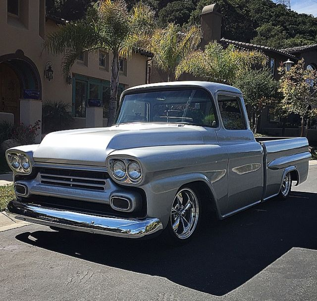 1958 chevy apache fleetside big window fully restored classic chevrolet other pickups 1958 for. Black Bedroom Furniture Sets. Home Design Ideas