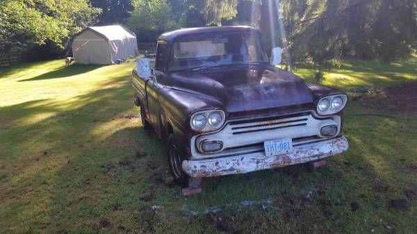 1958 Chevy Apache Fleetside Short Box Truck 3 Days N R
