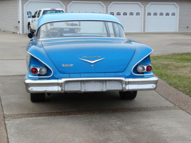 1958 CHEVY hot rod Biscayne 2- door sedan V8 283CI ...