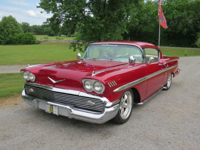 1958 Chevy Impala Candy Apple Red Classic Chevrolet