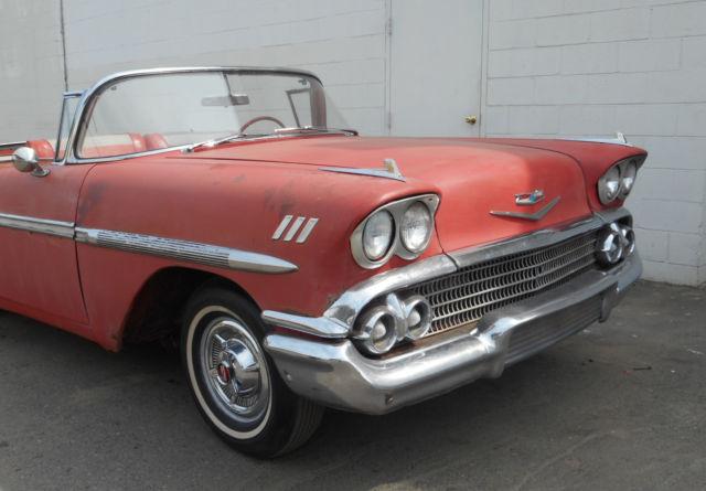 1958 chevy impala convertible 348ci classic chevrolet impala 1958 for sale. Black Bedroom Furniture Sets. Home Design Ideas