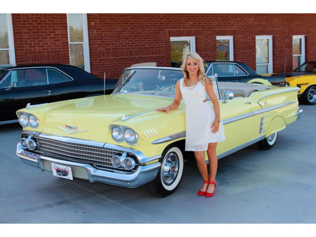 1958 Chevy Impala Convertible Holiday Sale 348 Automatic