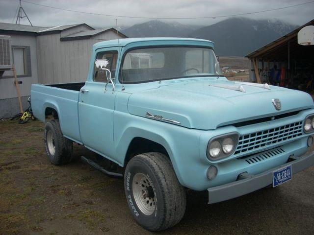 1958 FORD F100 4X4 4WD PICKUP TRUCK: V8, AUTO, PB,PS ...
