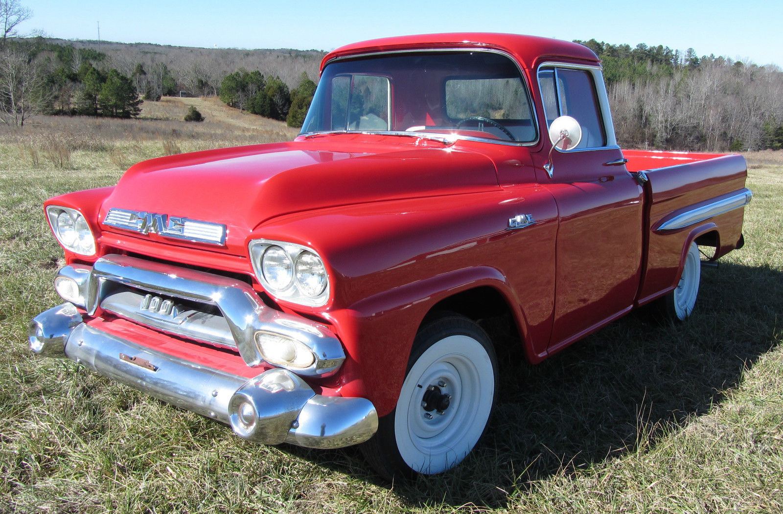 1958 Gmc Fleetside Pickup Wideside Chevrolet Custom Deluxe Classic Truck 100 Classic Gmc Deluxe Chevrolet Other Custom 1958 For Sale