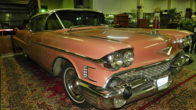 """1958 PINK Cadillac 62 2 Door Coupe Deville """"'Barn Find ..."""