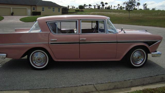 1958 rambler custom with teardrop trailer