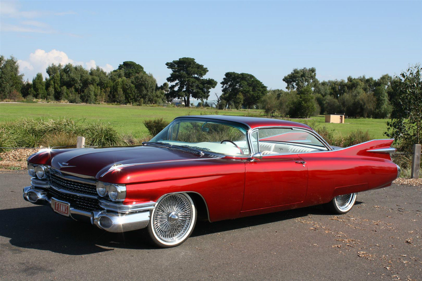 1959 cadillac series 62 coupe deville candy red custom built show car 390cbi v8 classic. Black Bedroom Furniture Sets. Home Design Ideas