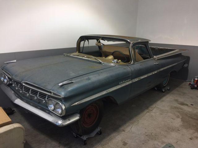 1959 chevy el camino survivor barn find no reserve 348 409. Black Bedroom Furniture Sets. Home Design Ideas
