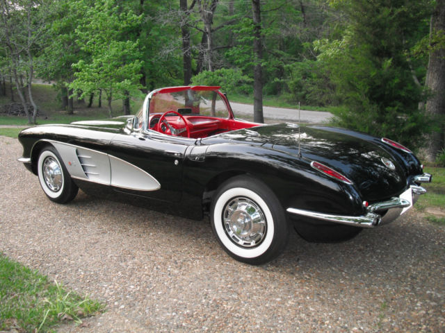 1961 Corvette For Sale >> 1959 Corvette-Dual Quad-Frame-Off Restoration/Black/silver/red interior - Classic Chevrolet ...