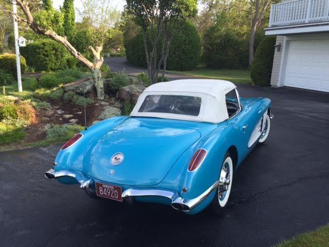 1959 Corvette Hardtop Roadster 4 speed Turquoise w/ Black