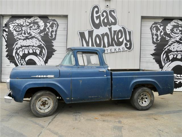 1959 ford f 100 swb big window v8 4 speed project gas for Garage ford paris 11
