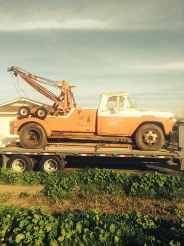 Best Mileage Trucks >> 1959 ford f600 tow truck custom wrecker rat rod project classic vintage holmes - Classic Ford ...