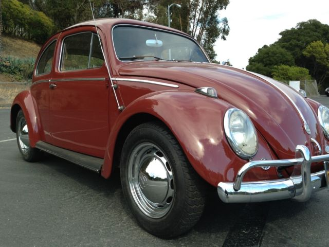 1959 Red Vw Bug For Sale Original Owner Classic