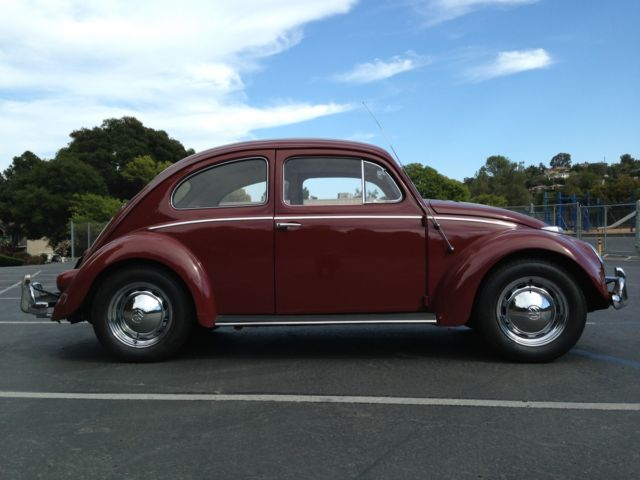 1959 red vw bug for sale original owner classic volkswagen beetle classic 1959 for sale. Black Bedroom Furniture Sets. Home Design Ideas