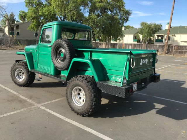 1959 Willys Jeep Pickup Truck F4 134 Lifted V8 Runs Well