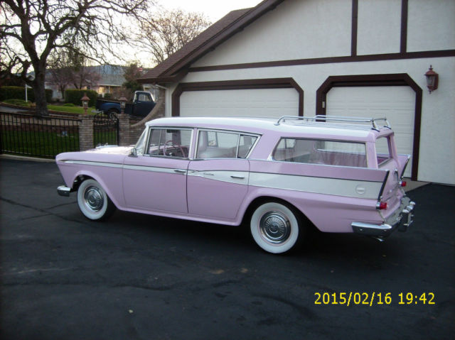 Town And Country Camper >> 1959,RAMBLER CROSS COUNTRY WAGON,SURF WAGON,CLASSIC,RESTORED,PINK AND WHITE - Classic AMC Other ...
