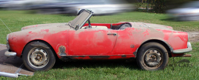 Alfa Romeo Giulietta Spider Veloce Fresh Out Of The Barn - Alfa romeo giulietta 1960 for sale