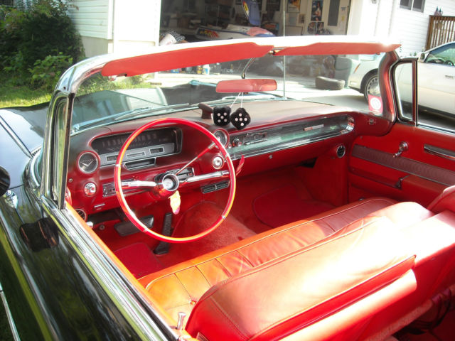 1960 Cadillac Convertible Black With Red Interior Classic Cadillac Series 62 1960 For Sale