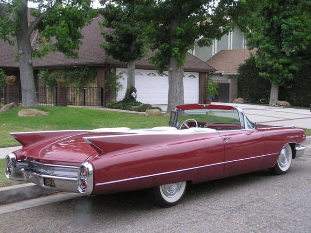 1960 cadillac series 62 convertible survivor de ville garaged since new classic cadillac. Black Bedroom Furniture Sets. Home Design Ideas