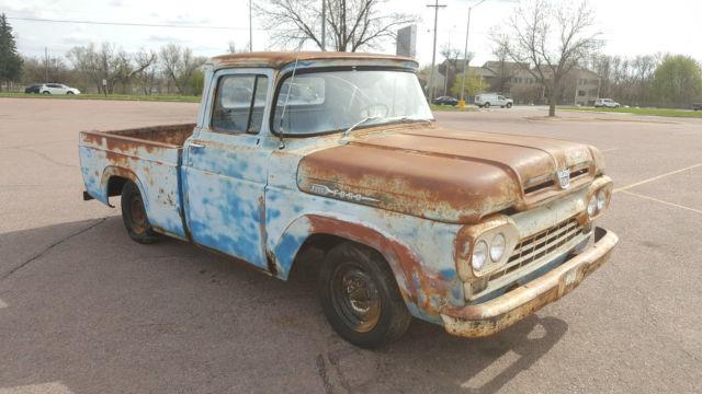 1960 ford f100 short bed y block v8 pickup all original shop truck patina classic ford f 100. Black Bedroom Furniture Sets. Home Design Ideas