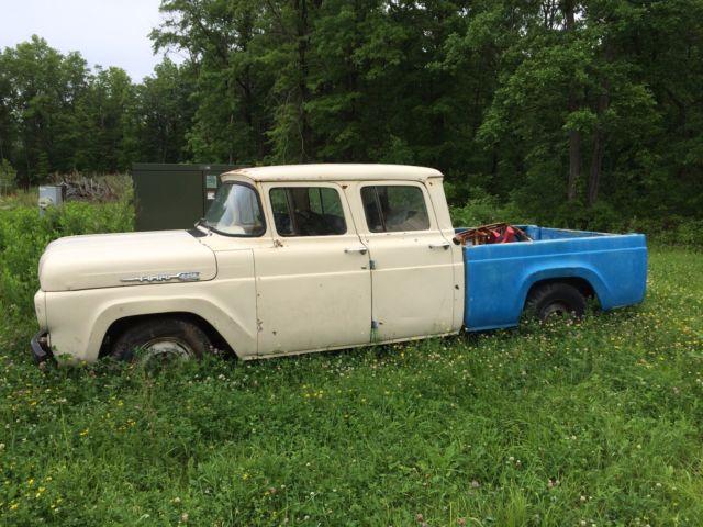 1960 Ford F250 F100 Crew Cab 4 Door Super Rare Super Solid
