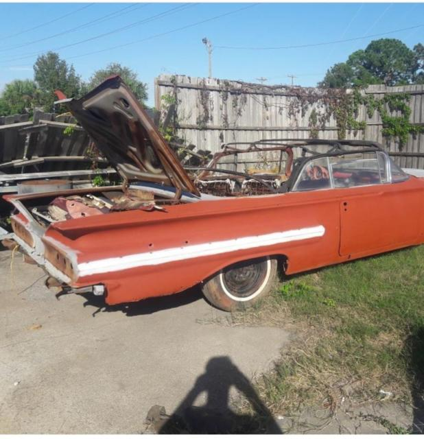 1960 Impala Convertible Project Classic Chevrolet Impala 1960 For Sale