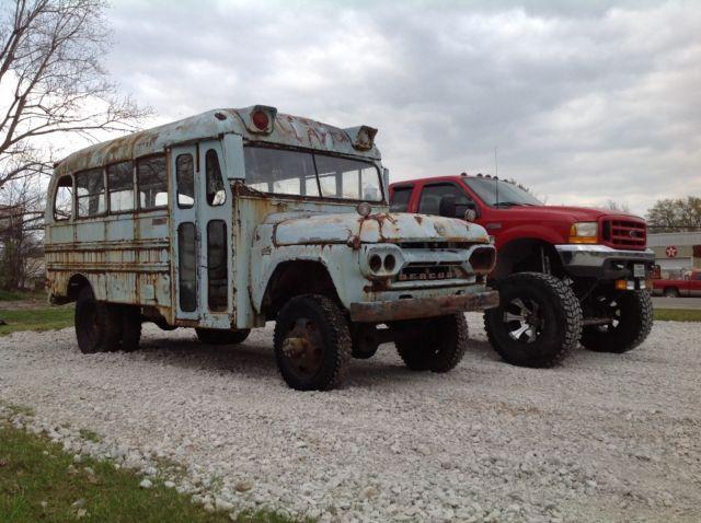 1960 napco mercury short school bus rat rod 4x4 rare for Cuisine 4x4