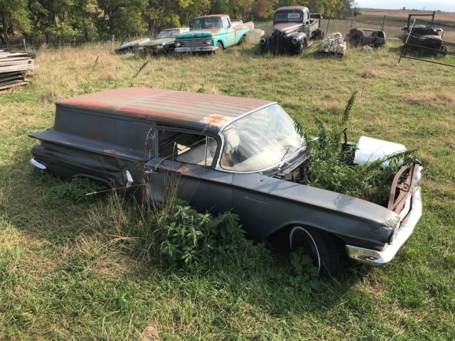 1960 Nomad Delivery 2 Door Wagon Rat Rod Barn Find