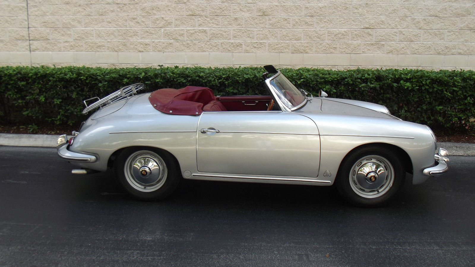 1960 Porsche 356 Roadster Speedster Silver With Red