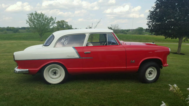 Rambler American Red And White Coupe Flathead At New Tires