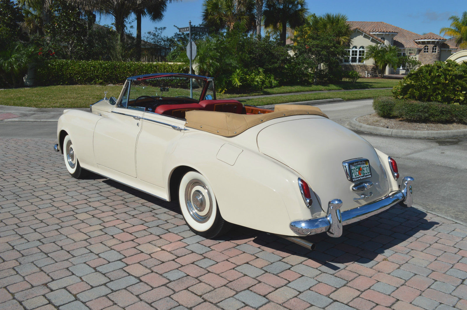 1960 silver cloud ii restored 4 door convertible lhd ac ivory red leather classic rolls. Black Bedroom Furniture Sets. Home Design Ideas