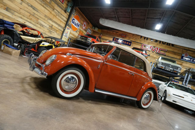 1960 volkswagen beetle convertible low miles indian red for Harmony motors vw asheville