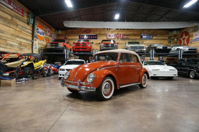 volkswagen beetle convertible  miles indian red manual original vw classic