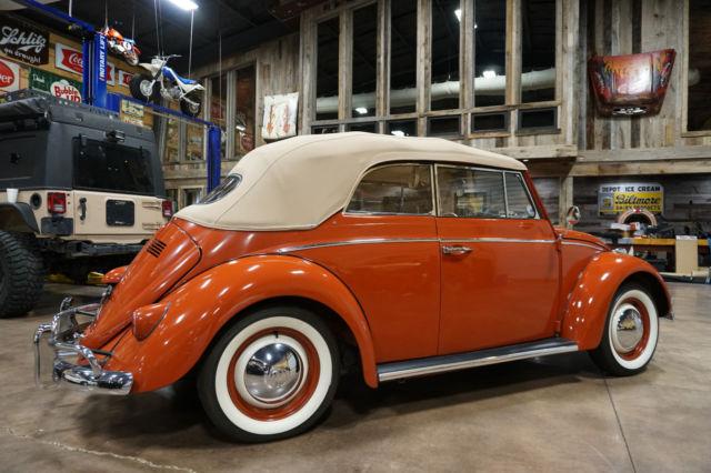 1960 Volkswagen Beetle Convertible! Low Miles! Indian Red! Manual! Original! VW! - Classic ...