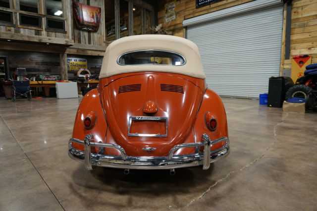 1960 volkswagen beetle convertible low miles indian red for Harmony motors asheville nc