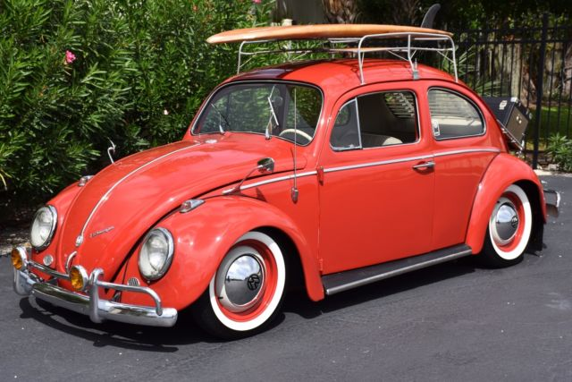 volkswagen beetle super cool extremely  restored  red dr manual classic volkswagen