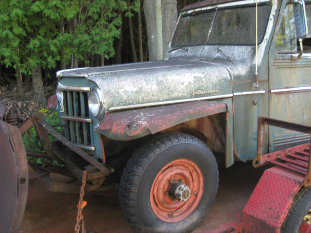 1960 WILLY'S JEEP 4WD STATION WAGON SNOW PLOW VINTAGE RAT ...