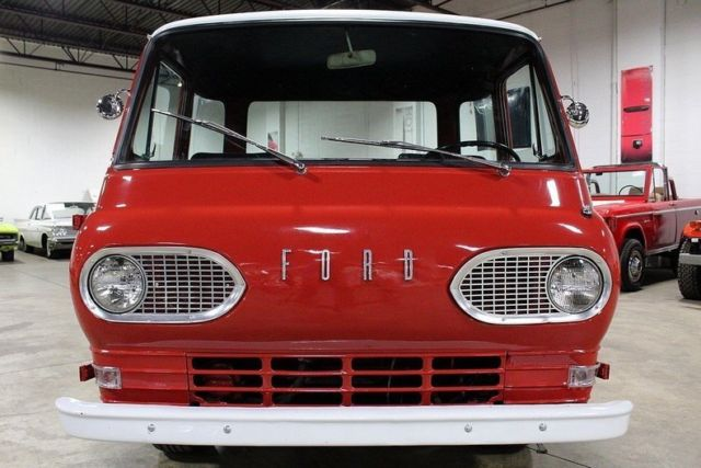 1961 Ford Econoline 81671 Miles Red Pickup Truck Inline 6