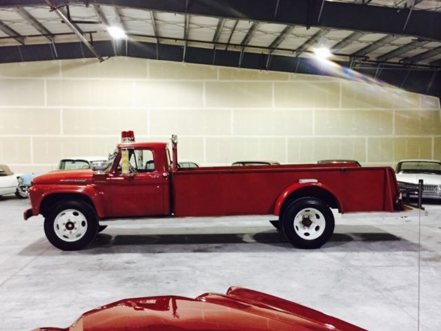 1961 FORD F-600 TOY HAULER CONVERSION BLACK FOOT FIRE ...
