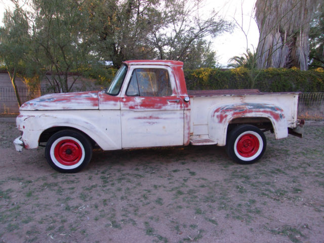 1961 Ford F100 Stepside Shortbed 1 2 Ton Pickup Vintage